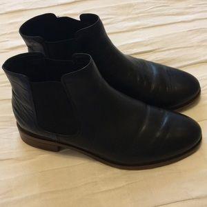 Clark's Black Leather Chelsea Boots